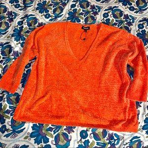 (Express) Bright Orange Oversized Sweater